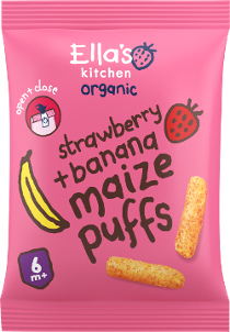 maize puffs jordbær + banan